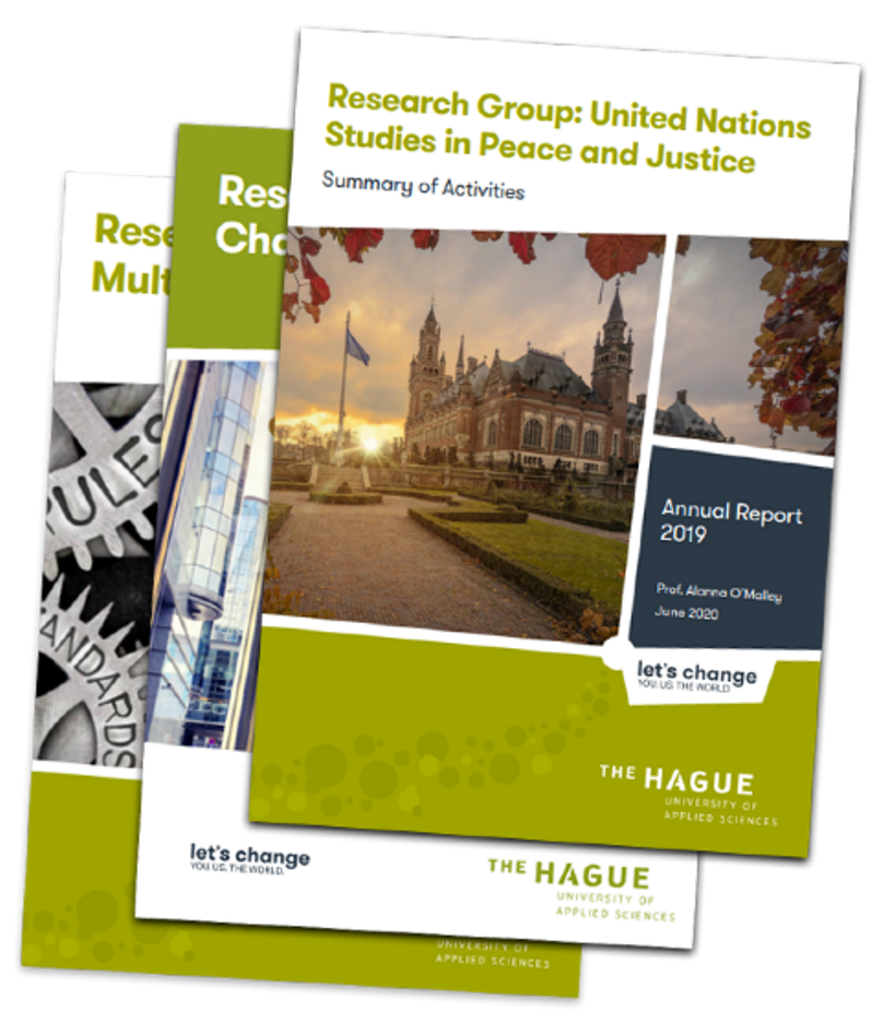 Covers of the three annual reports