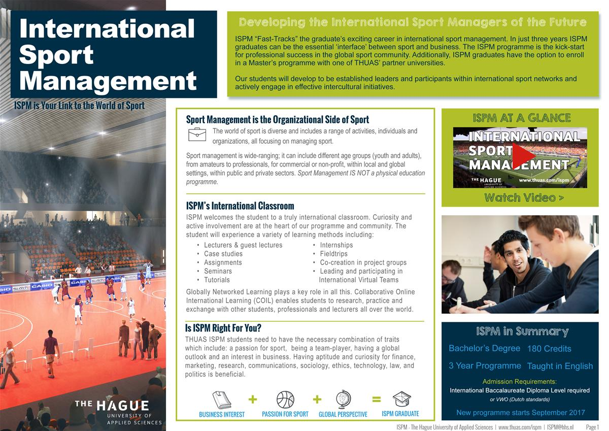 International Sports Management Factsheet