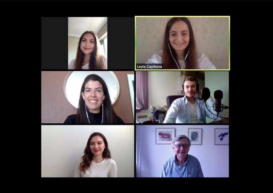 Students in an online meeting during the Telders moot